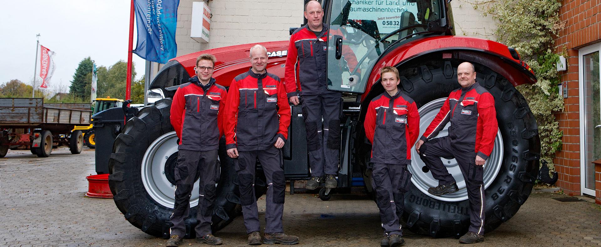 Schmidt Landmaschinen Steimke - Werkstatt-Team