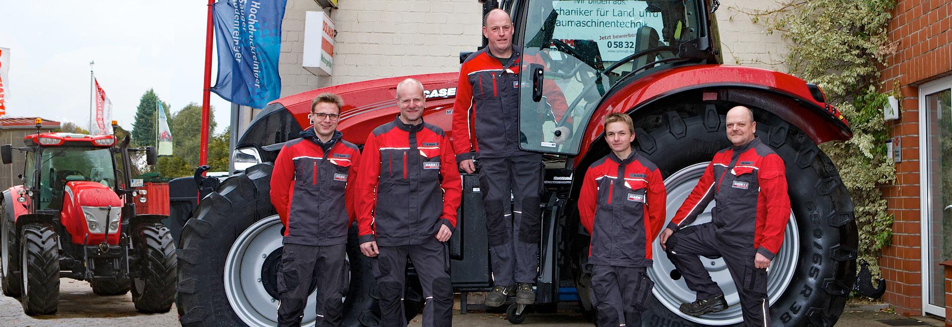 Schmidt Landmaschinen - Werkstatt-Team Steimke