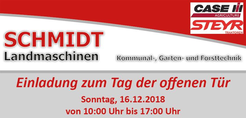 Schmidt Landmaschinen Steimke - Tag der offenen Tür 16. Dezember 2018