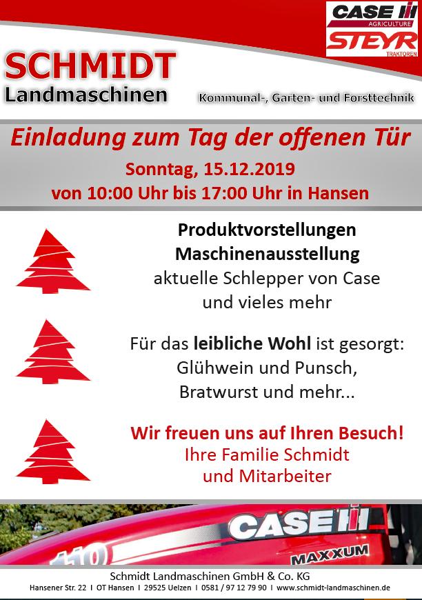 Schmidt Landmaschinen - Tag der offenen Tür 2019